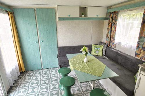 Mobilwohnheim Wohnzimmer