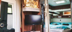 Vermiet-Wohnwagen Wohnzimmer